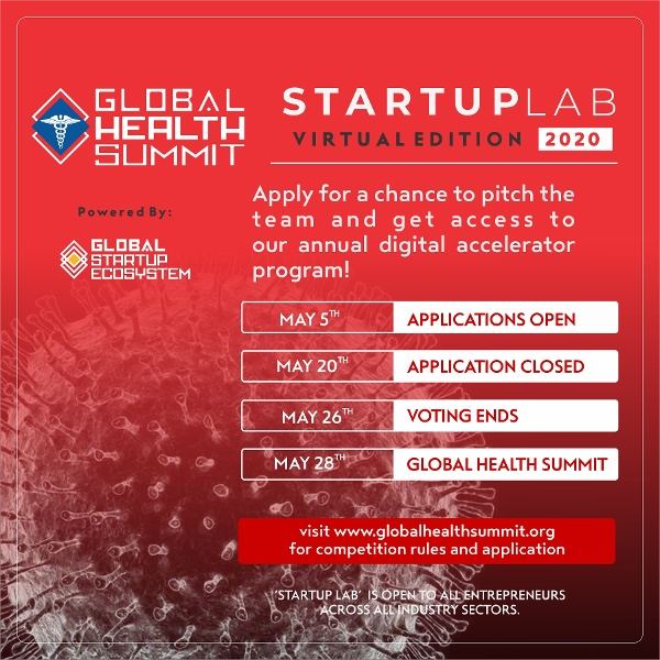 Call for Health Startup Entrepreneurs! Pitch at the Global Health Summit